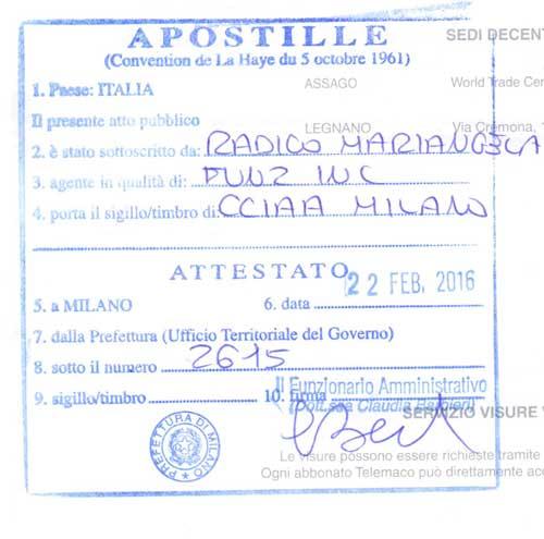 Ehefähigkeitszeugnis italienisch